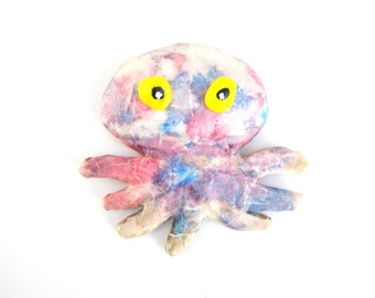 Colorful Octopus,Decorative Hand Made Octopus Fridge Magnet, refrigerator funny magnet,nautical design,home or office decoration