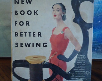 VOGUE's New Book For Better Sewing 1952 First Edition