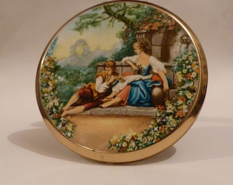 Vintage compacts FLUTE PLAYER compact mirrors Stratton powder compacts bridesmaids retro gifts