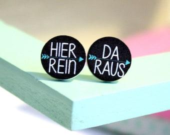 Earrings from wood * HierRein from *.