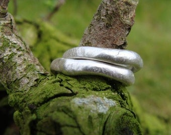 Sterling Nymph Ring, organic ring