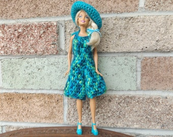 Super Fashionable Crocheted Barbie Clothes Outfit Dress Stylish Wardrobe