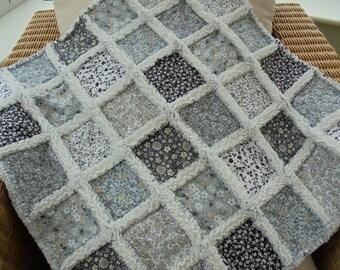 patchwork rag quilt, patchwork cot quilt, baby blanket, lap quilt, baby girl blanket, baby boy blanket