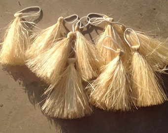 """Small Hau I'i's Or Hand Tassels For Young  Children And Boys Tahitian And Cook Island Dancers. Measures 10"""" Long From Tip To Tip Only."""