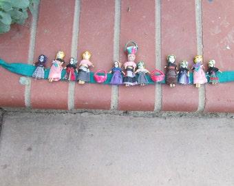 Guatemalan Fabric People on cotton fabric Handmade Tribal Ethnic