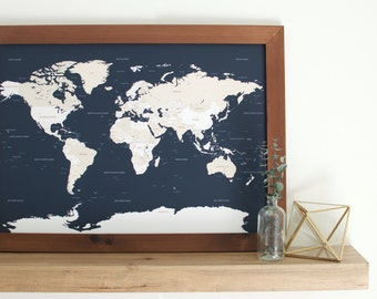 Push pin map world map pin world pin board push pin maps small world map push pin map framed world map travel map custom gumiabroncs Choice Image