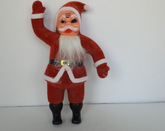 Vintage Fuzzy Santa