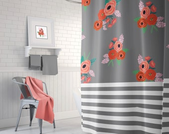 Dorm shower curtain Etsy