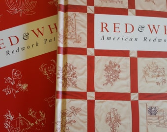 Red & White - 2 volume set, Redwork Embroidery