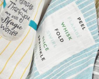 Housewarming Gift Tea Towel Kitchen Linens Decal