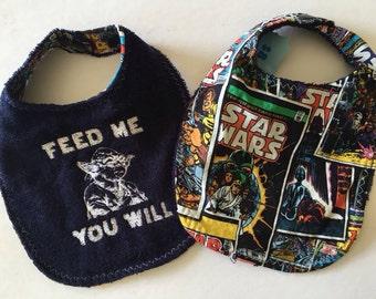 Feed Me You Will terrycloth bib