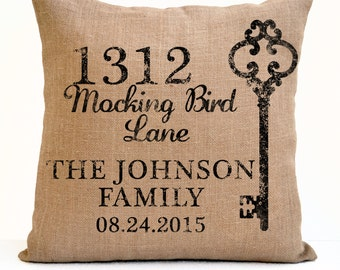 Ivory Linen Us Map Heart Pillow Nursery Pillow Long By