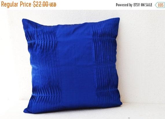 10% Sale Decorative Pillow Cover Royal Blue Pillow by AmoreBeaute