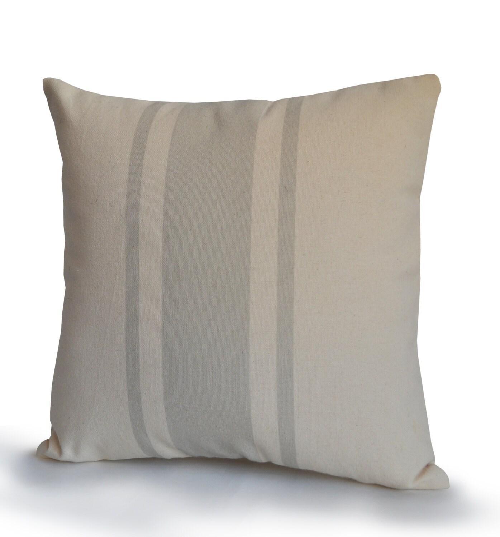Organic Decorative Pillow Covers : Decorative Pillow Cover Organic Cotton Medium Weight Cotton