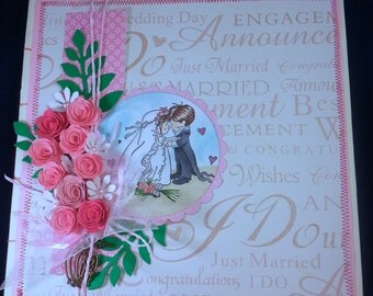 Fabulous handmade GUESTBOOK, wedding day perfect!