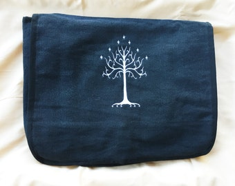 Tree of Gondor Embroidered Messenger Bag (Home Embroidered)