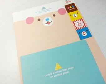 Animal Letter Paper - 4 Sheets + 2 Envelopes + 5 Stickers