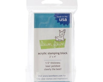"SALE ~ 2"" x 4"" Acrylic Stamping  Block Lawn Fawn"
