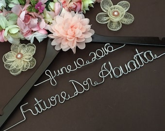 Sale MADE in USA.  Personalized Doctorate. Dr gift. Hanger. Bridal Hanger. Bridal Party. Custom Hanger.