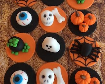 Fondant Halloween Cupcake Toppers