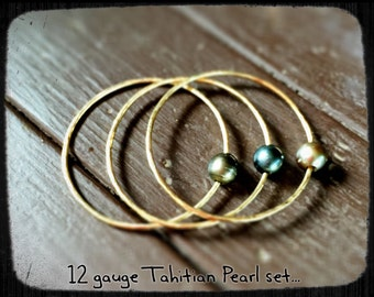 Tahitian Pearl Bangle Set