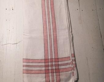 vintage linen cotton table cloth