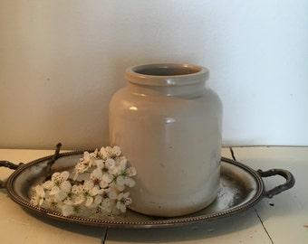 vintage primitive mustard jar
