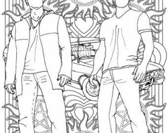 Supernatural - Colouring for Grown-Ups - Sam and Dean Winchester