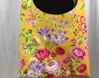 Floral, cloth, hobo bag, roses cloth sling bag