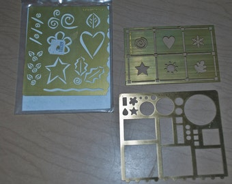miscellaneous brass embossing stencils