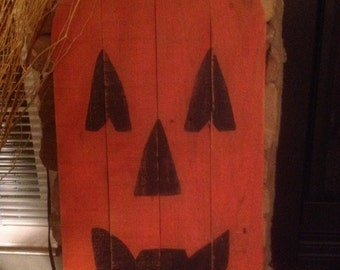 Large pallet wood pumpkin jack o lantern
