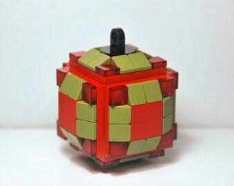 Lego Christmas Ball @ Christmas Ornament @ Christmas @ Red / Olive Green