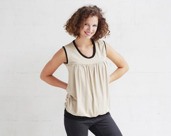 AGNES NURSING TOP/ Sale! Sand  color for breastfeeding and  pregnancy women / sleeveless