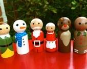 Sale Price- Christmas Themed Peg People