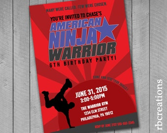 American Ninja Warrior Party Cupcake Toppers By Rbcreation