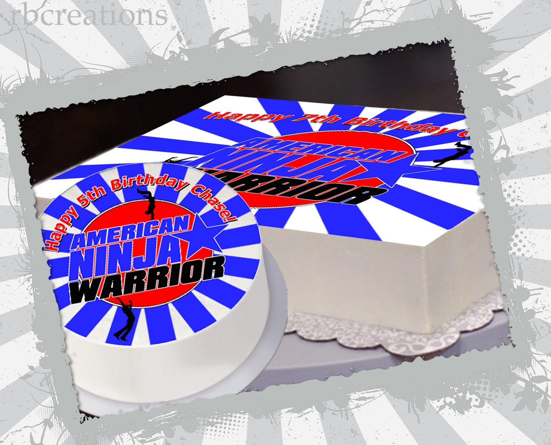 American Ninja Warrior Party Edible Cake Topper File American