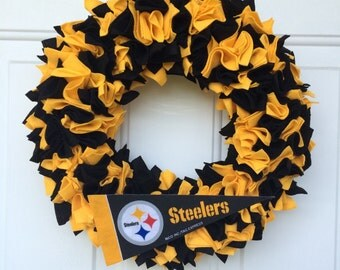 Pittsburgh Steelers Inspired Wreath