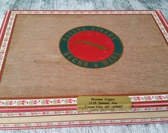 Havana Cigars Vintage Wood Cigar Box