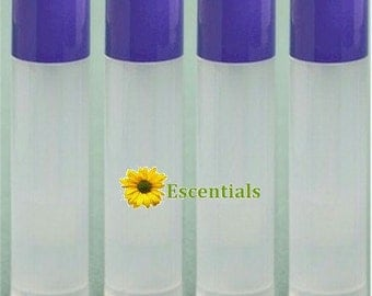 Natural Lip Balm Tube w/ Lavender Cap - 10 Pack