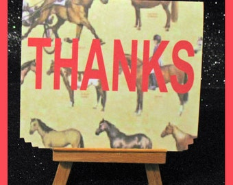 Horse note cards, Horse invitations, Horse thank you notes package of 10
