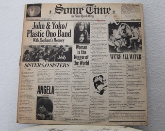 "John & Yoko / Plastic Ono Band - ""Sometime in New York City"" vinyl records, 2 LPs w/ Original Inner Sleeves"