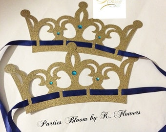 Gold Prince Crowns/Prince Party Favors-Set of 4+