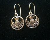 Flower of Scotland earrings