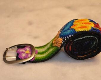 Colorful Embroidered Belt Vintage