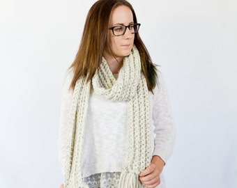 traditional fringe unisex scarf    the OKMULGEE    shown in wheat