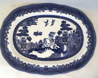 Blue Willow Medium Platter Royal Traditions