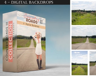 Country Roads - Collection II - Digital Backdrops