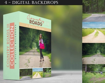 Country Roads - Collection III - Digital Backdrops