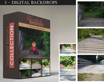 Wooden Bridge - Collection - Digital Backdrops