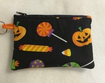 Halloween Fall Holiday Pumpkin Coin Purse Wallet